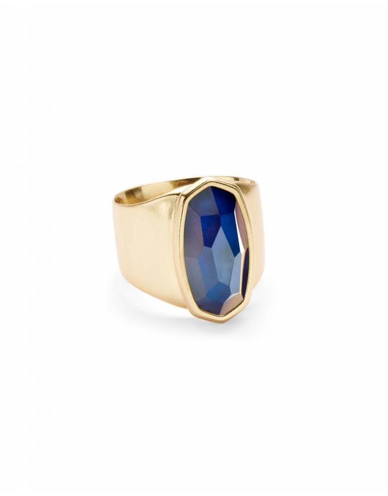 Kendra Scott Leah Ring Mood Stone on Gold- Size 7