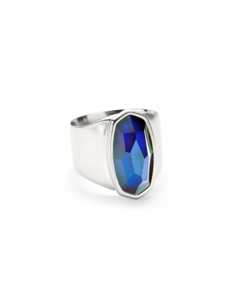 Kendra Scott Leah Ring Mood Stone on Silver- Size 7