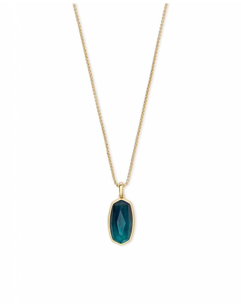 Kendra Scott Moody Necklace in Mood Stone on Gold