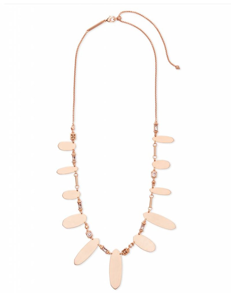 Kendra Scott Airella Necklace in Blush Mix on Rose Gold