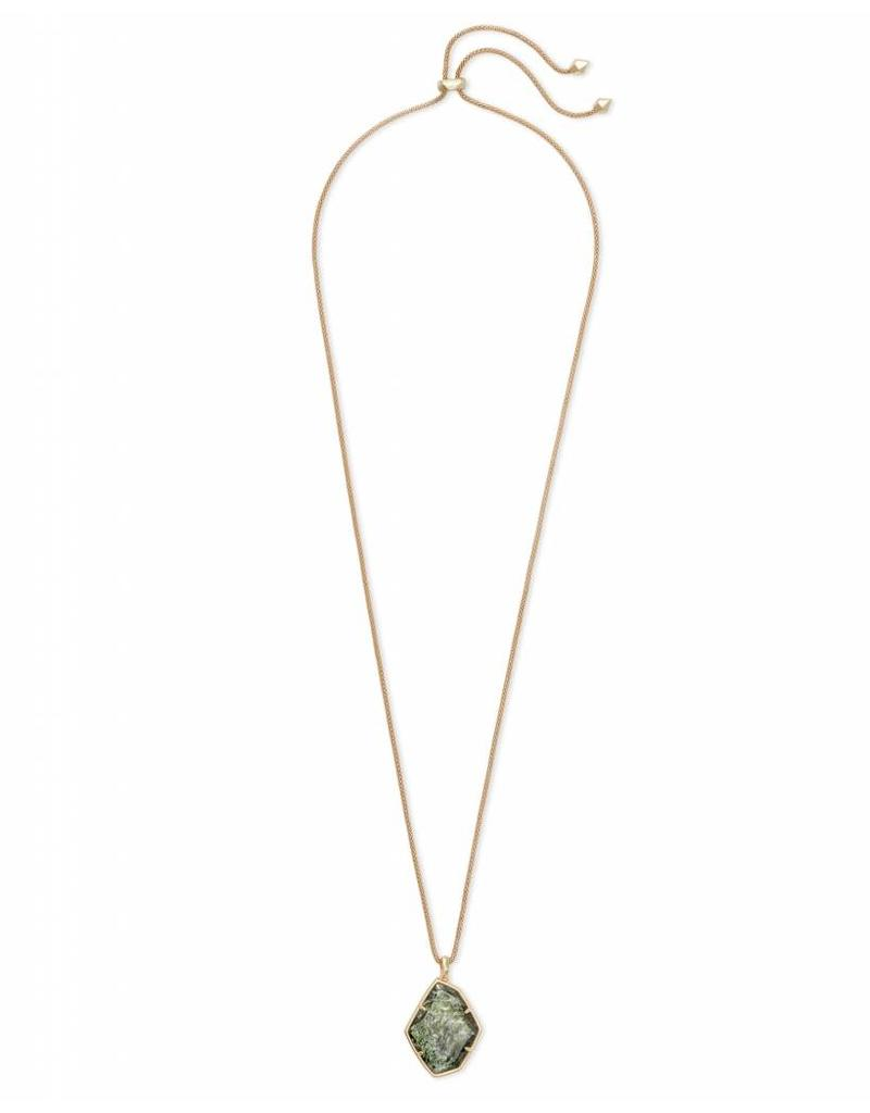 Kendra Scott Kalani Necklace in Sage Mica on Gold