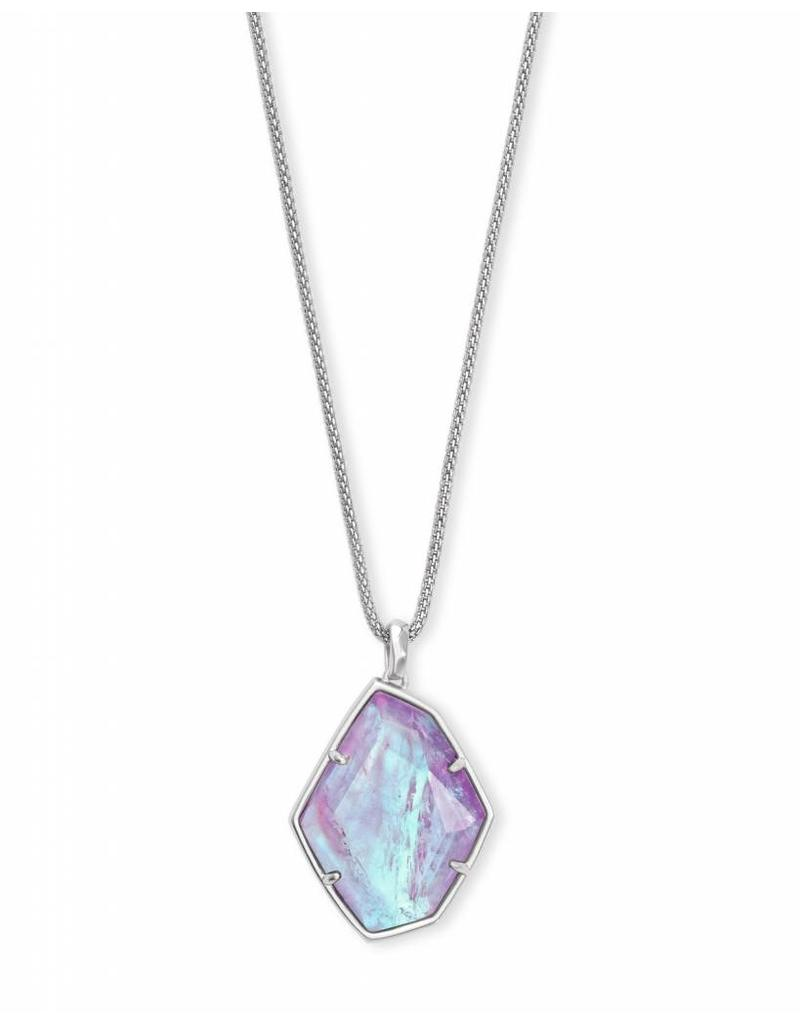 Kendra Scott Kalani Necklace in Amethyst Dichroic on Silver