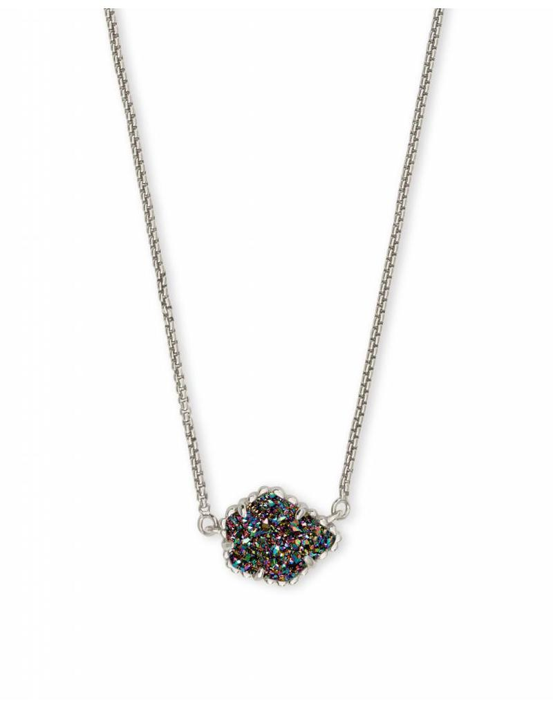 Kendra Scott Tess Silver Necklace in Multi Drusy