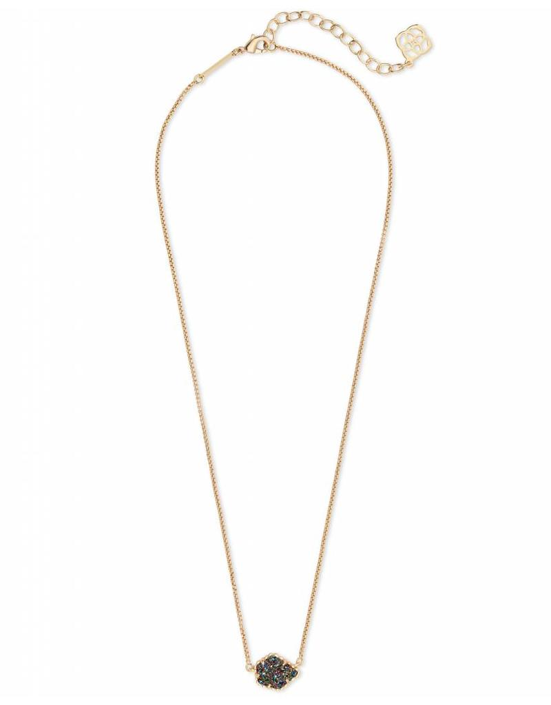 Kendra Scott Tess Necklace in Gold Multi Drusy