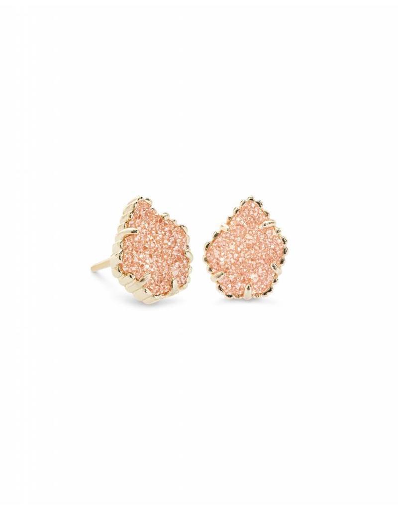Kendra Scott Tessa Earrings in Sand Drusy on Gold