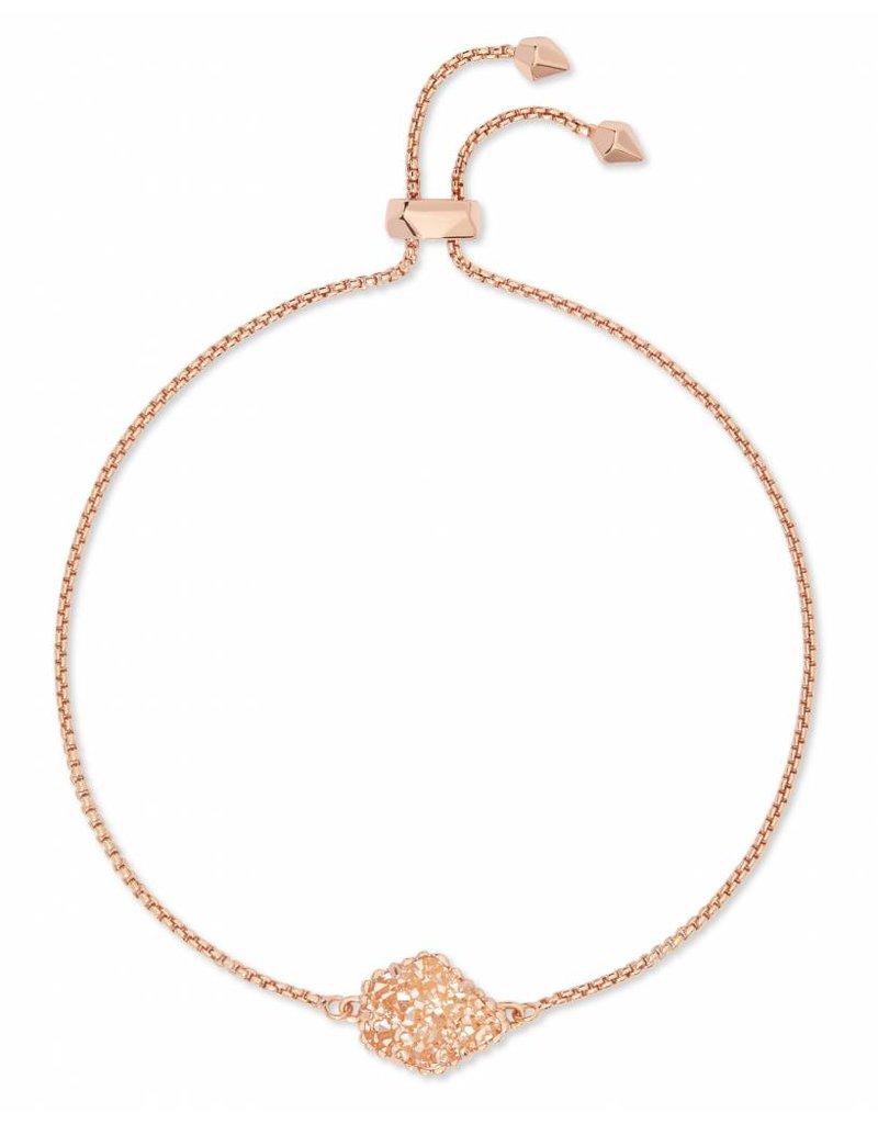 Kendra Scott Theo Bracelet in Sand Drusy on Rose Gold