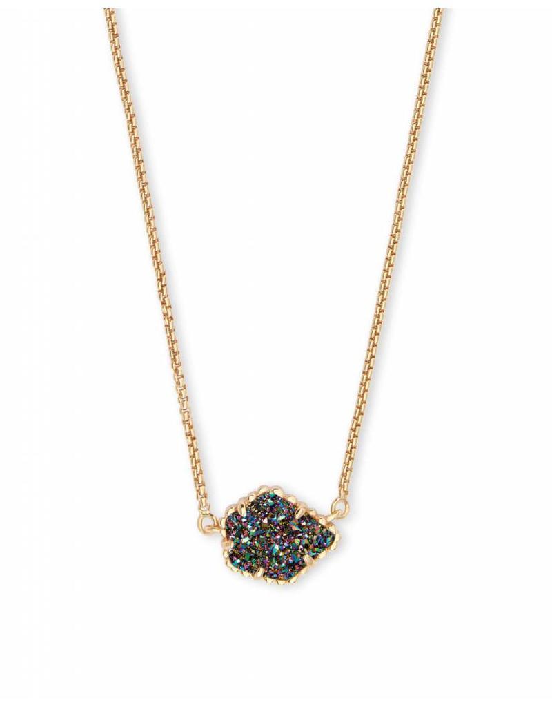 Kendra Scott Tess Necklace in Gold Multi Drusy