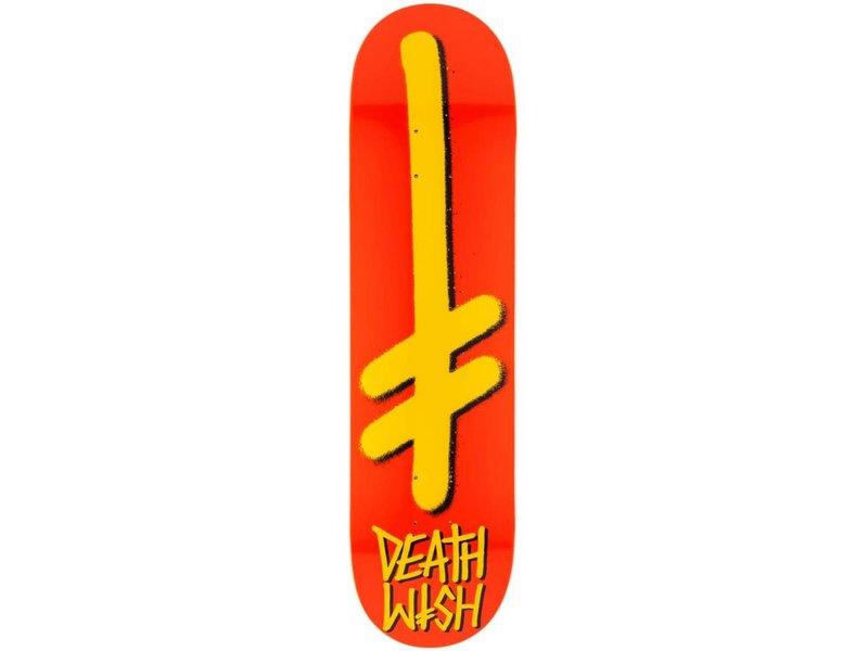 DEATHWISH Gang Logo ORG/YLW Deck (7.875)