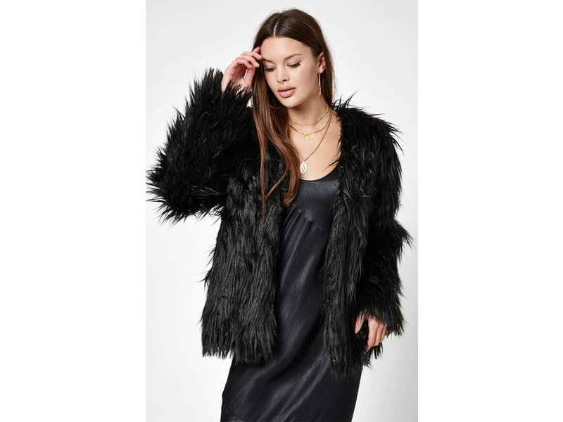 MINK PINK luxe fur jacket