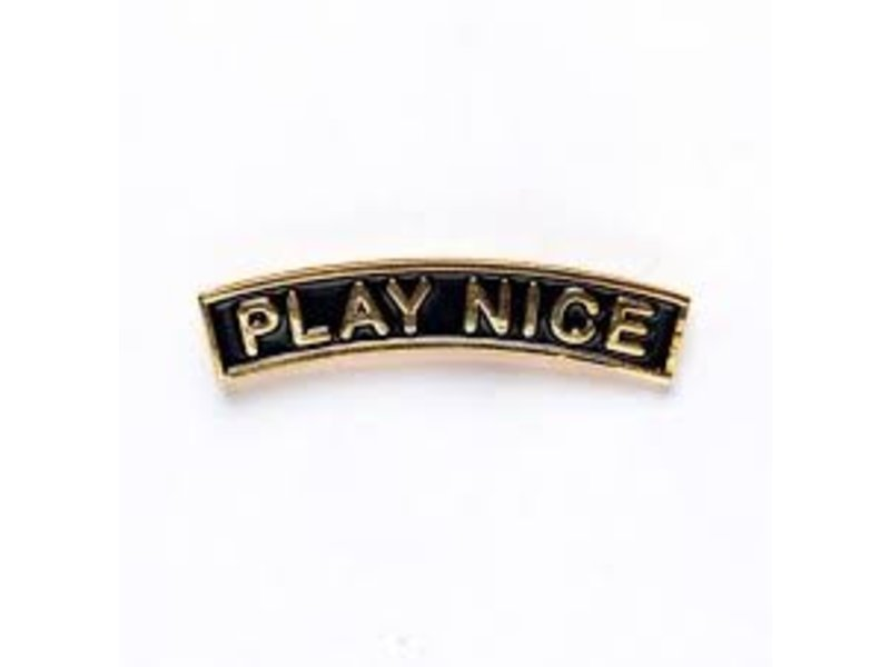 Wkndrs Play Nice pin