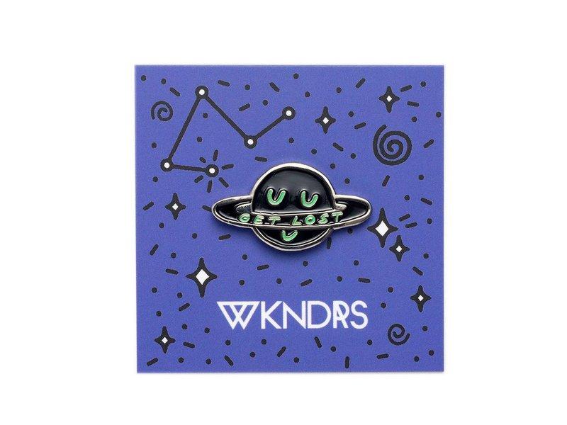 Wkndrs Get Lost pin