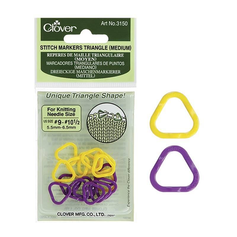 Clover Clover Stitch Marker: Medium Triangle