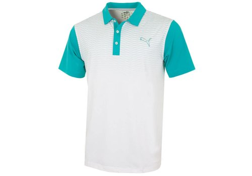 Puma #GoTime Colorblock Fade Polo