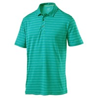Men's Essential Mixed Stripe Golf Polo Cresting