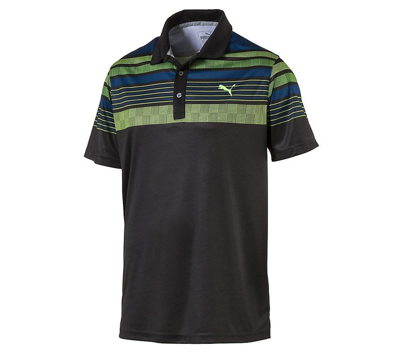 Men's Jersey Stripe Golf Polo