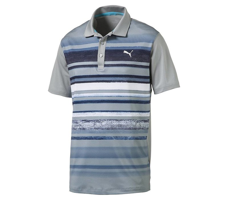 Men's Washed Stripe Golf Polo