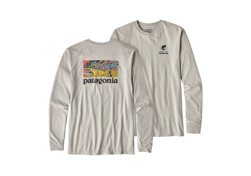 Patagonia Long-Sleeved Eye Of Brown World Trout Organic Cotton T-Shirt