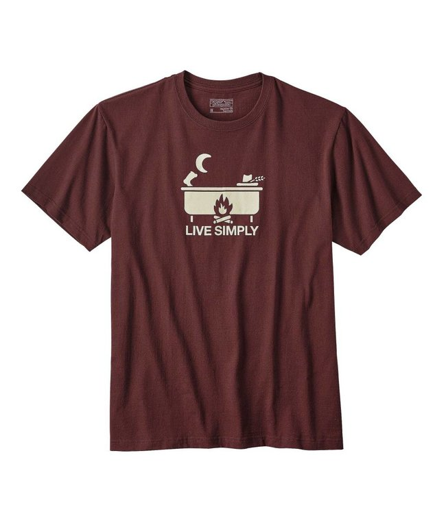 Patagonia Live Simply Hot Tub Cotton/Poly Responsibili-Tee