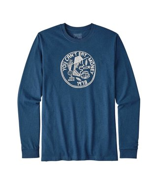 Patagonia Can't Eat Money L/S Cotton/Poly Tee