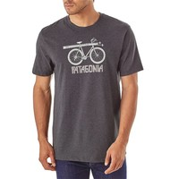 Men's Snow Cycle Organic Cotton/Poly Responsibili-Tee