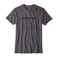 Men's Text Logo Organic Cotton/Poly T-Shirt
