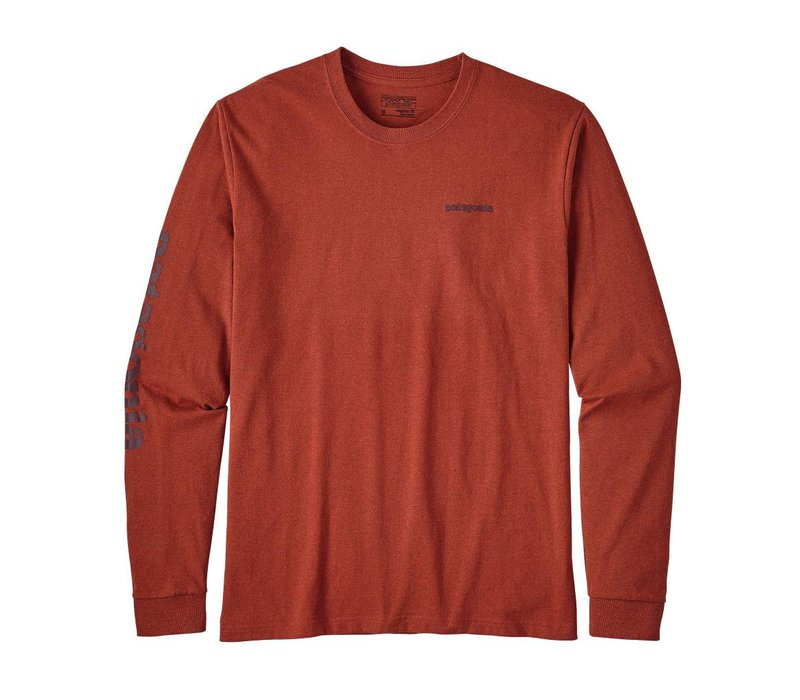 Men's Long-Sleeved Text Logo Organic Cotton/Poly Responsibili-Tee