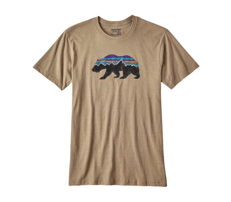 Men's Fitz Roy Bear Organic Cotton/Poly T-Shirt