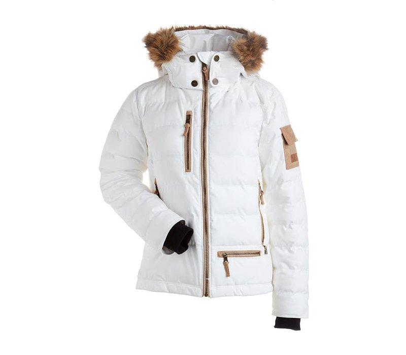 Akasha Faux Fur Women's Insulated Snow Jacket - Raccoon