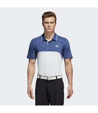 Adidas Ultimate 365 Heather Blocked Polo Shirt