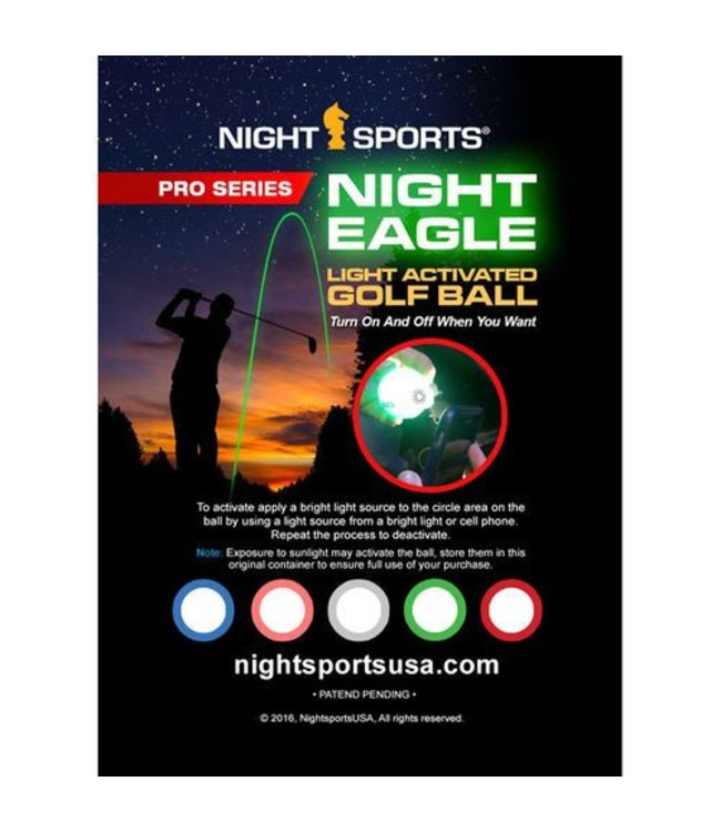 Night Sports Night Eagle Light Activated Golf Balls - Fast & Free ...