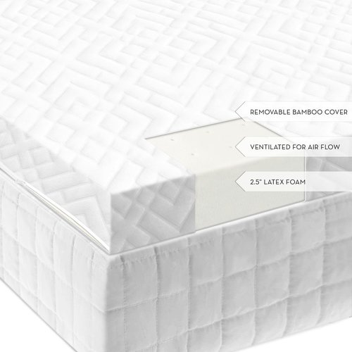 malouf isolus king latex mattress topper