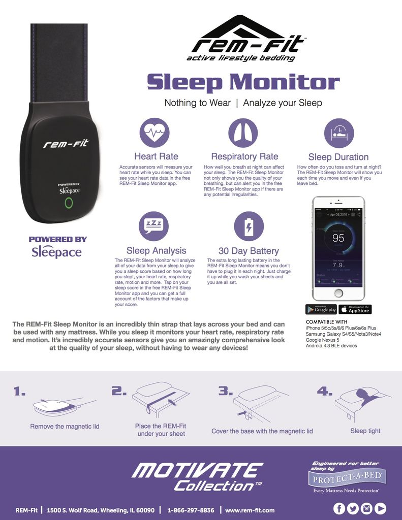 PROTECT-A-BED REM-FIT Sleep Smart Sleep Tracker