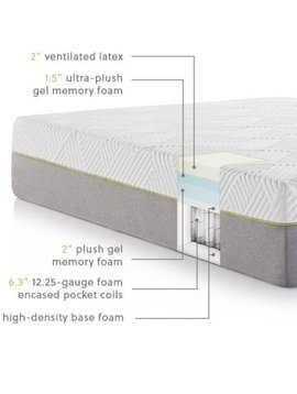 "Malouf WELLSVILLE 14"" LATEX Hybrid Mattress"