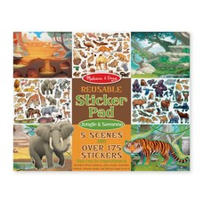*Reusable Sticker Pad Jungle & Savanna