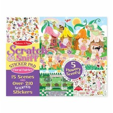 *Scratch & Sniff Sticker Pad Floral Fairies