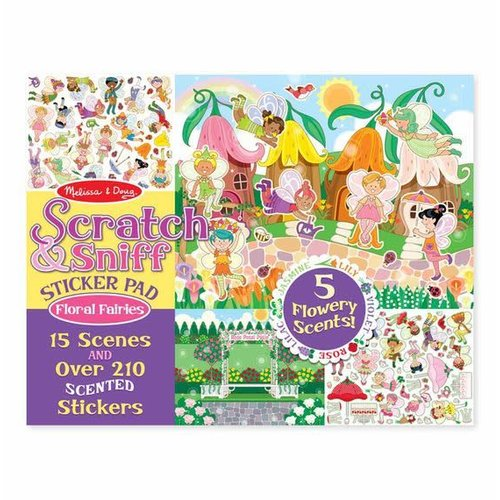 Scratch & Sniff Sticker Pad Floral Fairies