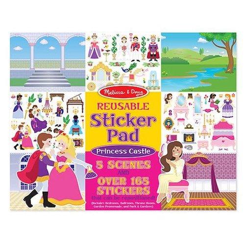 *Reusable Sticker Pad Princess Castle
