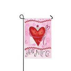 Be Mine Sub Suede Garden Flag