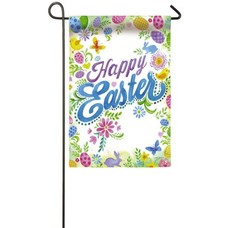 Happy Easter Garden Suede Flag