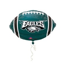 *Philadelphia Eagles Football Shape Mylar Balloon