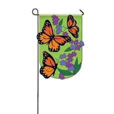 Monarch Butterfly Applique Garden Flag