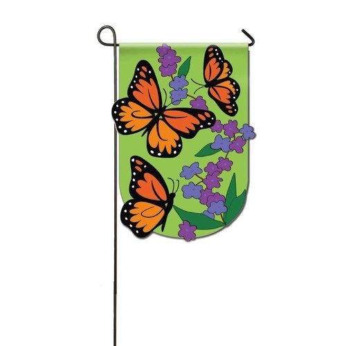 Monarch Butterfly Applique Garden Flag