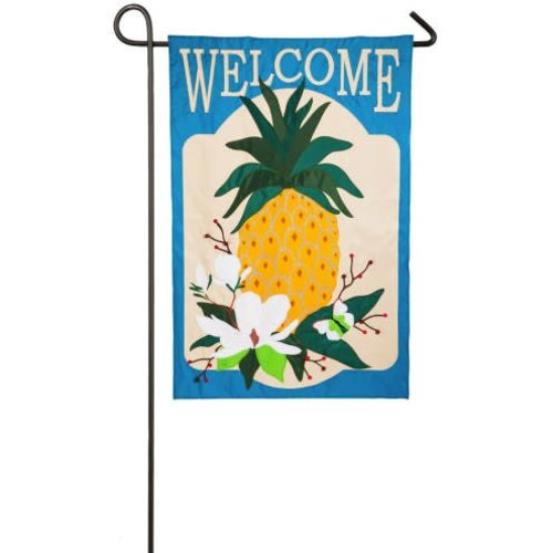 Summer Pineapple Garden Appique Flag