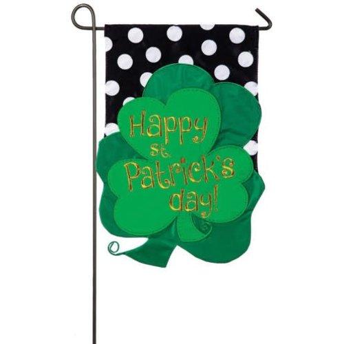 St. Patrick Cloves Garden Applique Flag