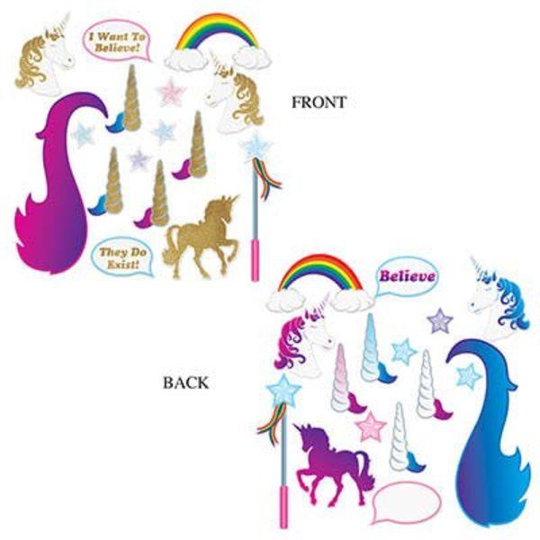 *Unicorn Glittered Photo Fun Signs 16ct