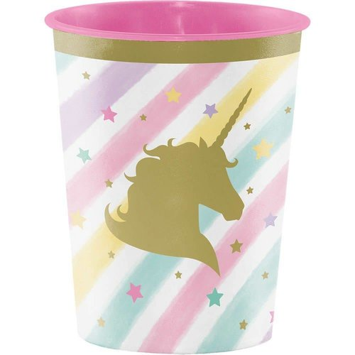 *Unicorn Sparkle 16oz Plastic Cup