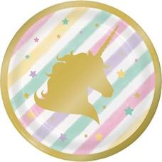 "*Unicorn Sparkle 7"" Dessert Plates 8ct"