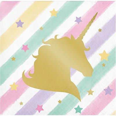 *Unicorn Sparkle Beverage Napkin