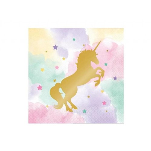 *Unicorn Sparkle Lunch Napkin 16ct