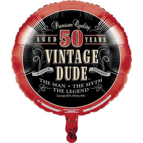 *Vintage Dude 50 Birthday Mylar Balloon